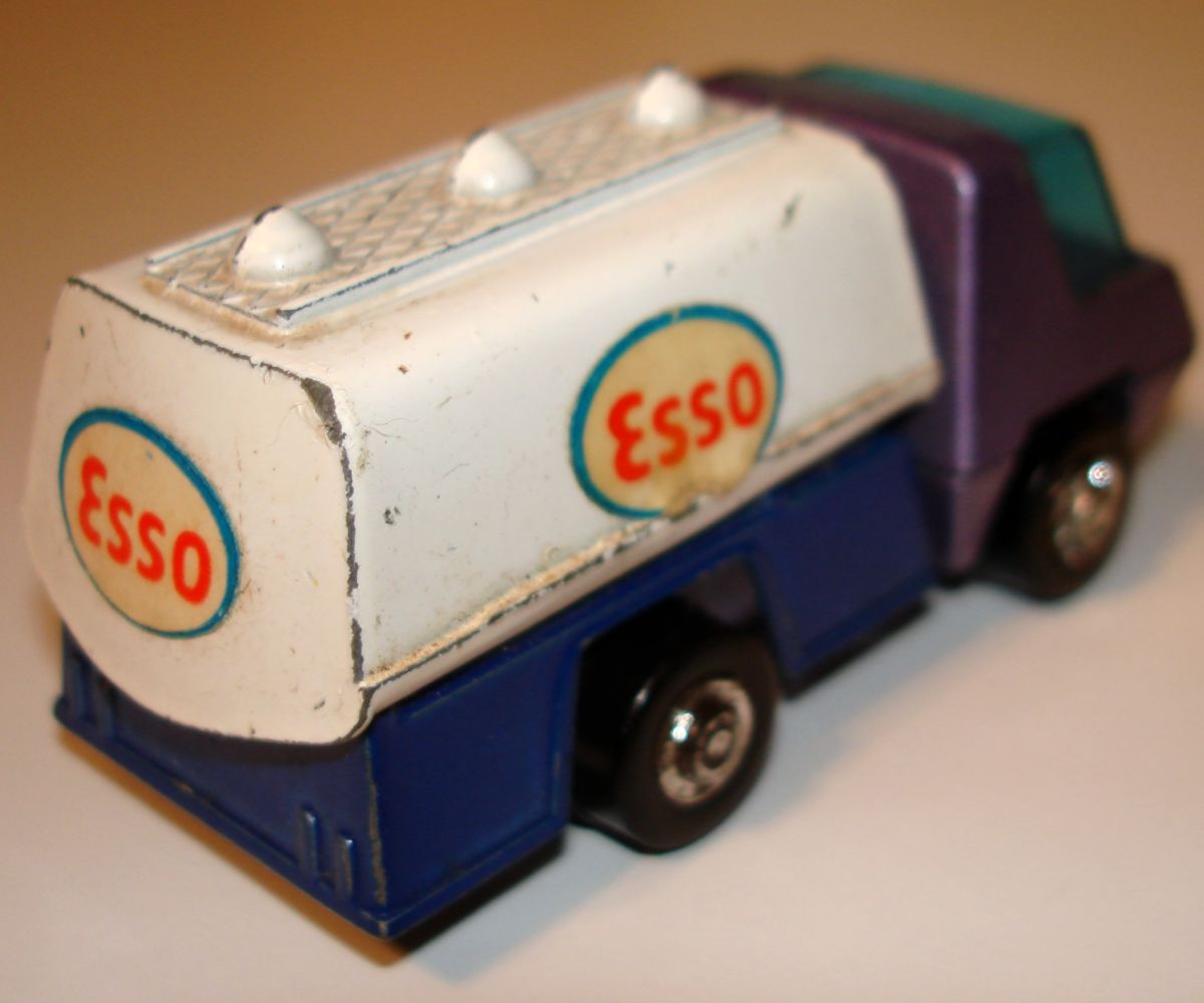Vintage Playmart Made In Hong Kong Esso Oil Tanter Gasoline Truck Stickers