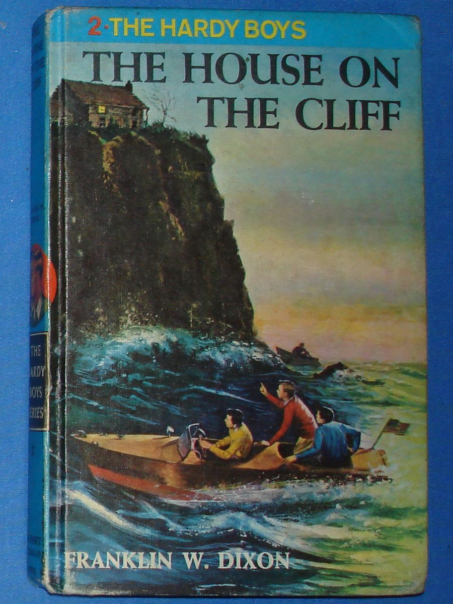 Vintage The Hardy Boys Series The House On The Cliff Franklin W Dixon #8902 Grosset & Dunlap