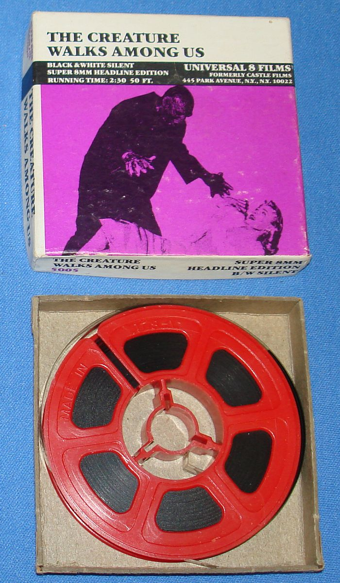 Vintage Universal Super 8mm Films Black & White Silent 5005 The Creature Walks Among Us