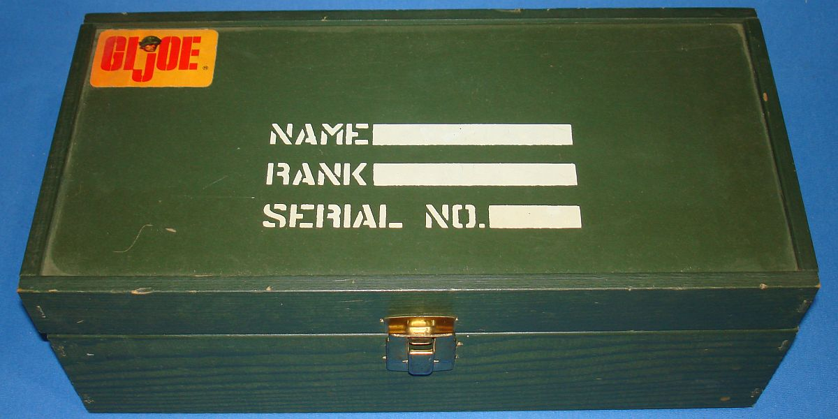 Vintage Hasbro GIJOE Action Soldier #8000 Footlocker Name Rank Serial Number