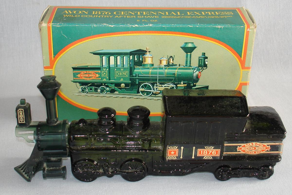 Avon 1876 Centennial Express Train Engine After Shave Bottle Decanter