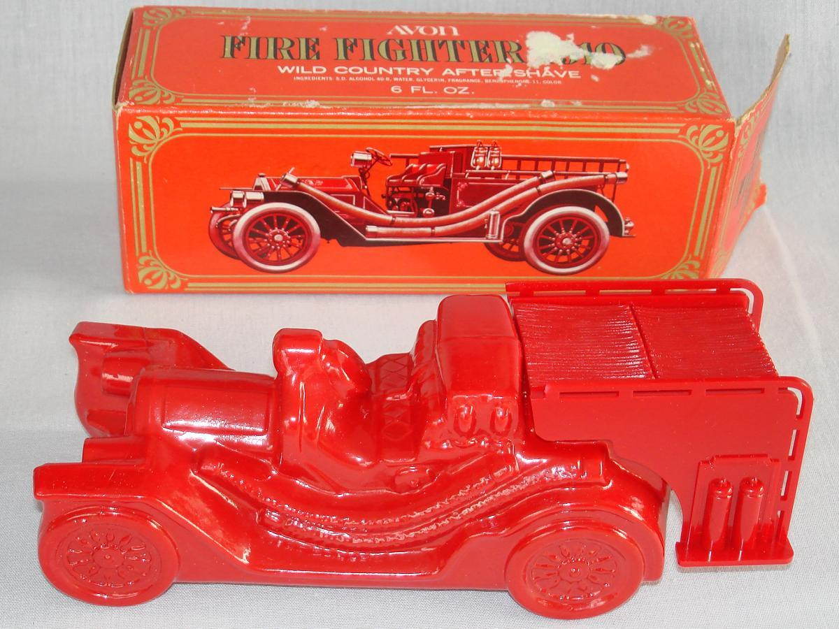 Avon 1910 Fire Fighter Red Engine After Shave Bottle Decanter
