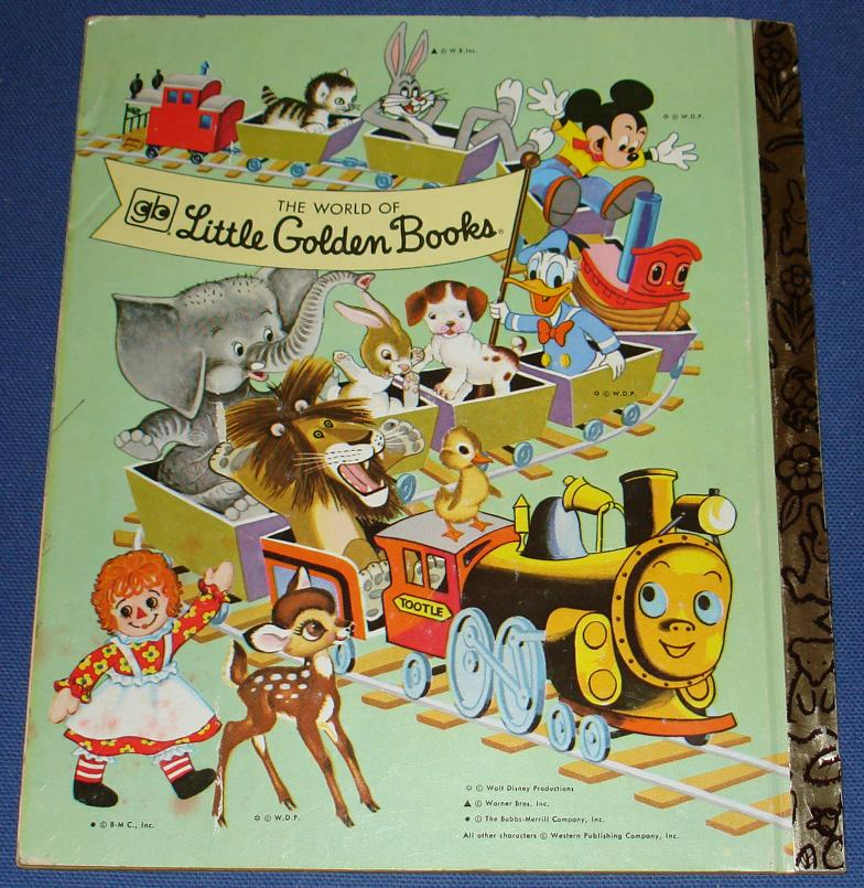 Little Golden Book Rudolph The Red Nosed Reindeer #331 Back Cover