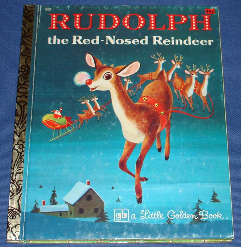 Little Golden Book Rudolph The Rednosed Reindeer #331 Front Cover