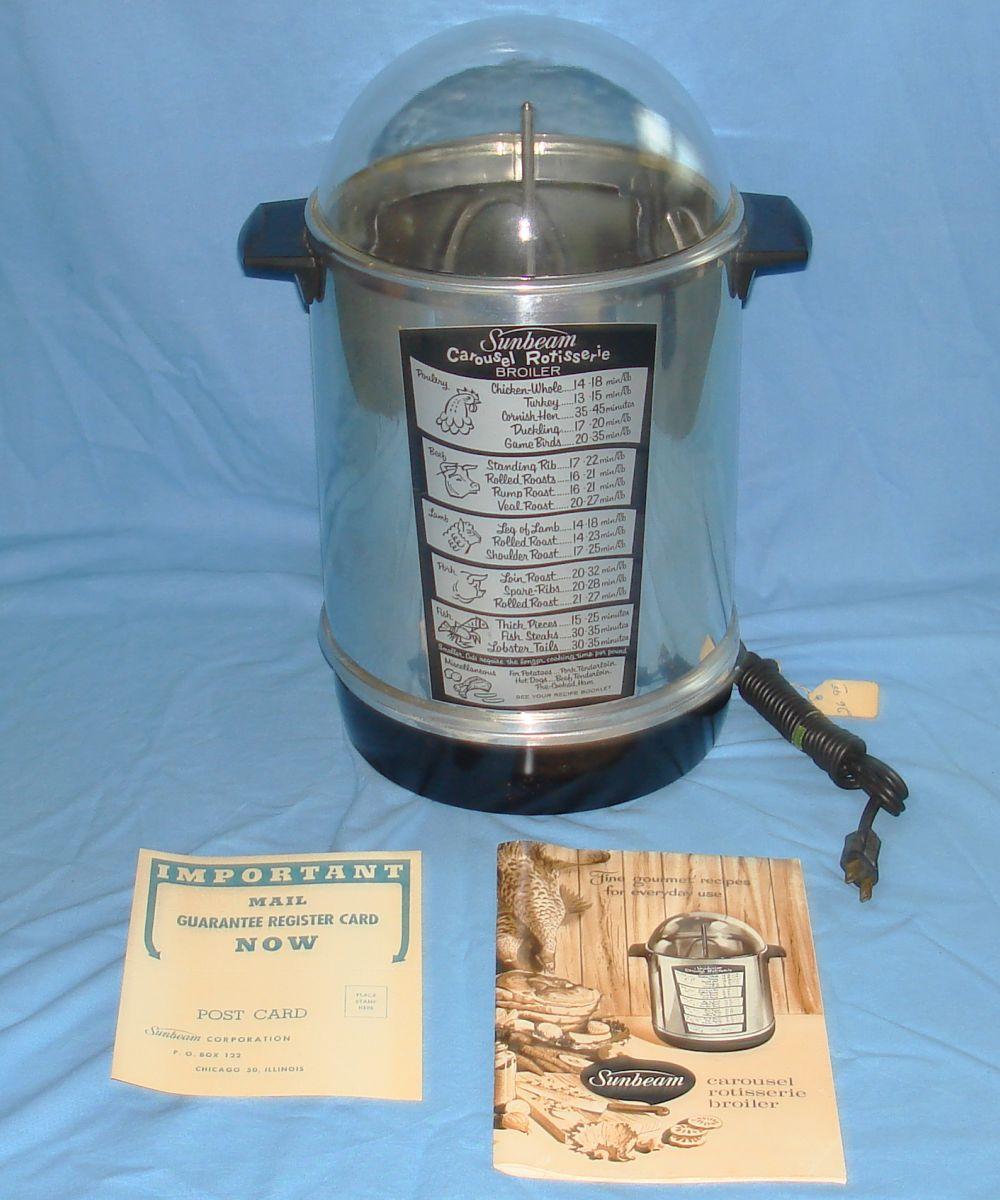 Vintage Sunbeam Carousel Rotisserie Broiler & Gourmet Food Cook Booklet
